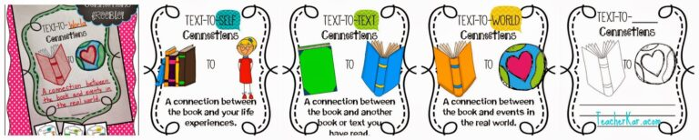 Improve Student's Comprehension {Text Connections} and FREEBIE ...