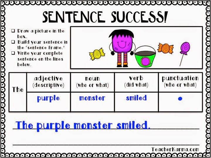 Sentence Success ~ Sentence Writing Strategy FREEBIE! - Teacher KARMA