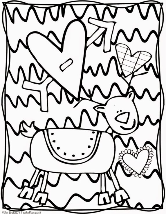 FREE Christmas Doodle Coloring Pages Teacher KARMA