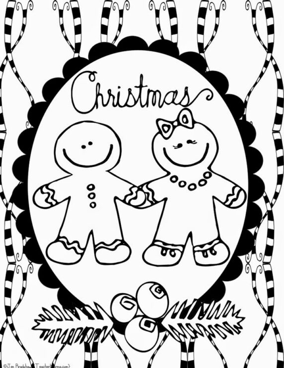 free christmas and winter doodle coloring pages teacherkarmacom - Free Christmas Coloring Pages