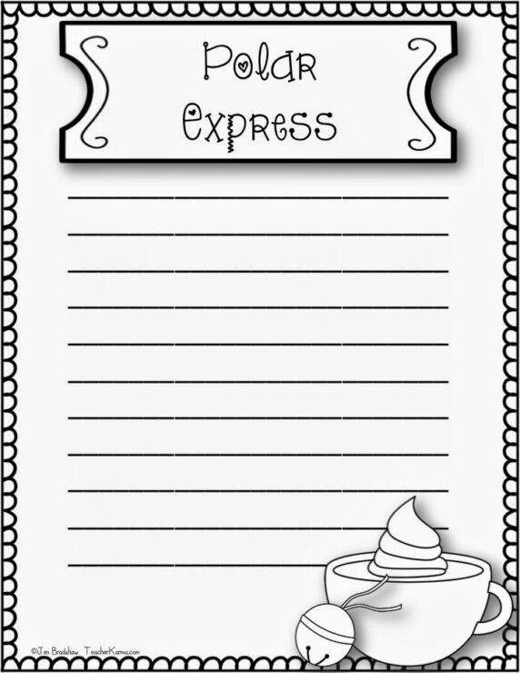 FREE Polar Express reflection journal topics and writing paper that are sure to get your kids writing. TeacherKarma.com