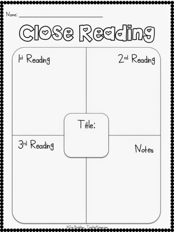 CLOSE Reading FREE Resources Teacher KARMA – Reading Strategies Worksheets