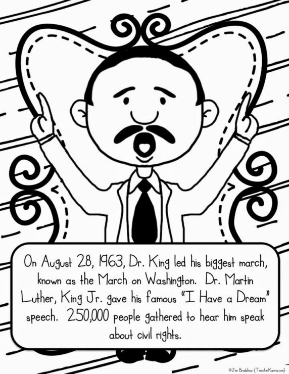 martin luther king jr free coloring pages and worksheets teacherkarmacom - Martin Luther King Jr Coloring Pages
