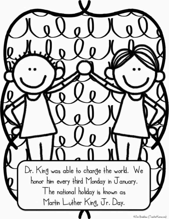martin luther king, jr. freebie  teacher karma, coloring pages
