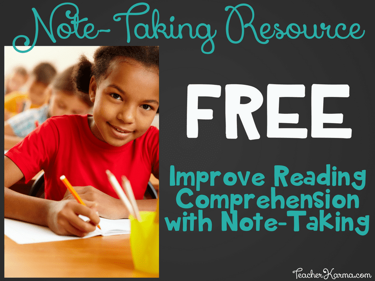 FREE Note-Taking Resource & Interactive Notebook Pages TeacherKarma.com