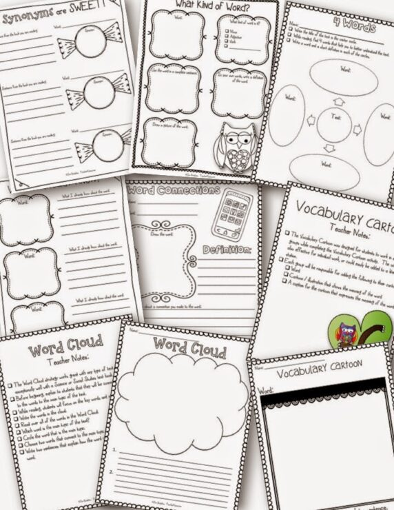 synonyms are sweet  vocabulary freebie