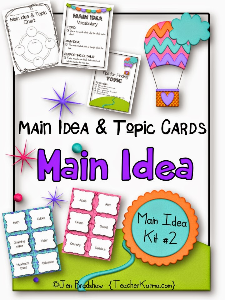 Main Idea Task Cards by Little_Tots_Learning - Teaching Resources ...