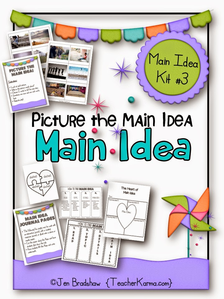 Picture the Main Idea: Literacy center and reading activities. teacherkarma.com