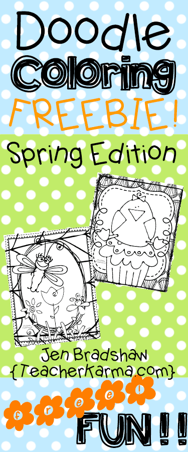 spring easter coloring pages - free spring easter doodle coloring pages teacher karma