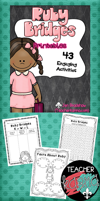 Ruby Bridges FREEBIE: Facts About Ruby and Journal Paper – Teacher ...