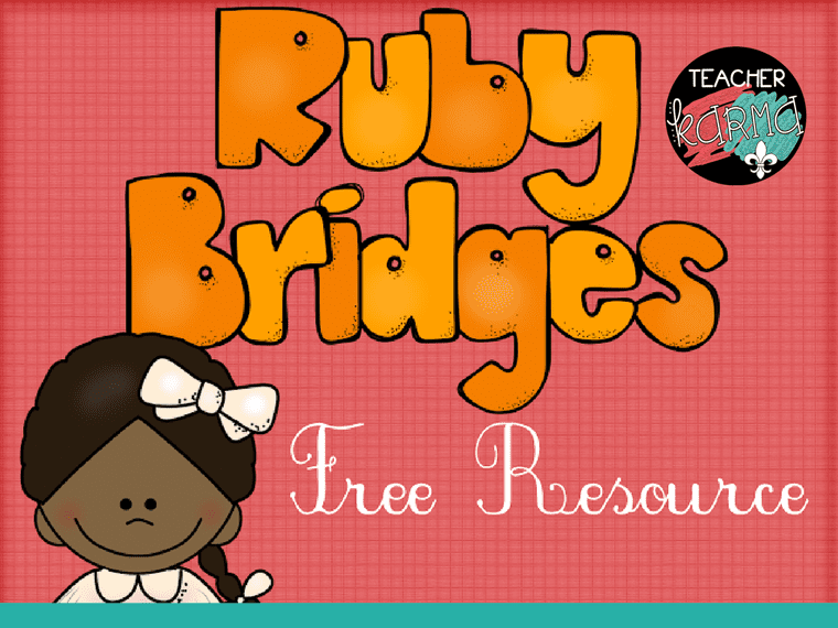 Ruby Bridges Free Printables and Lessons for Black History Month at TeacherKarma.com