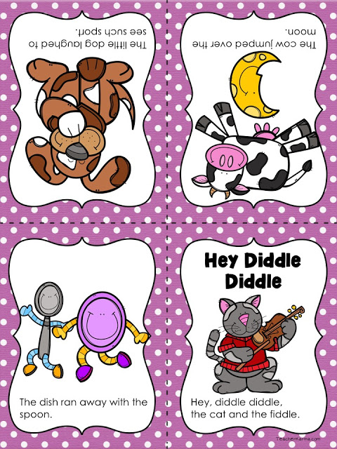 Free Nursery Rhyme Resources Hey Diddle Mini Book And Poster