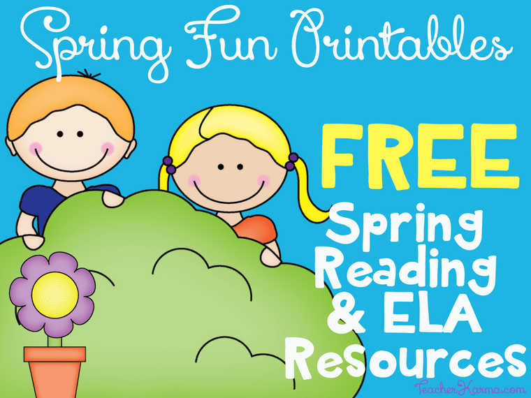 FREE Spring Reading Printable Resources TeacherKarma.com
