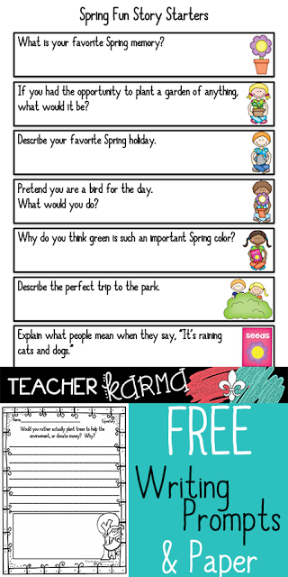 free writing prompts for spring teacherkarma.com