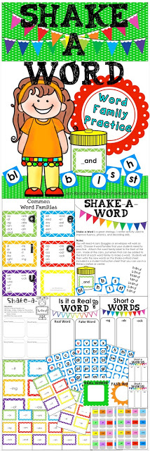 teaching word families TeacherKARMA.com