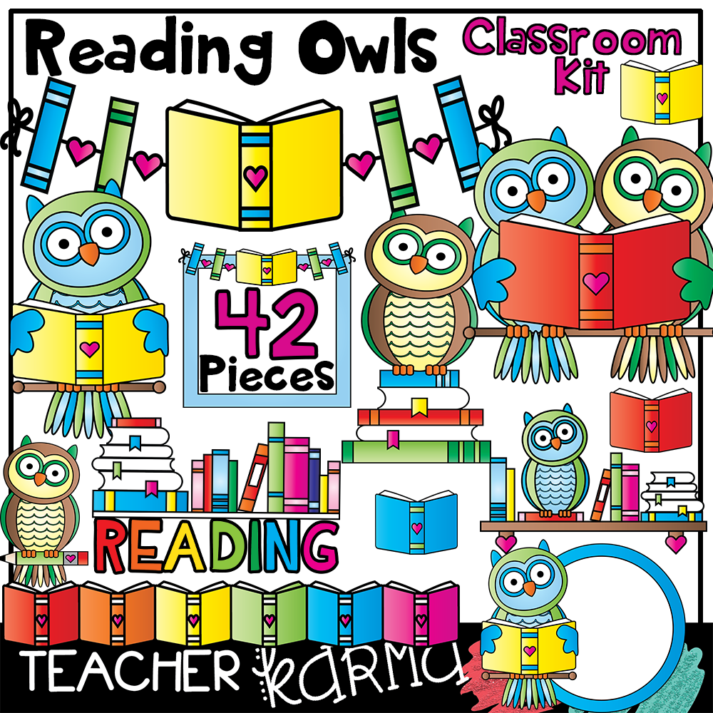 reading owls clipart teacherkarma.com