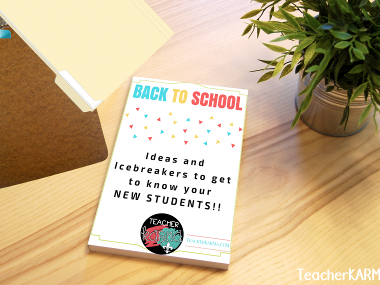 ideas for back to school icebreakers Teacherkarma.com