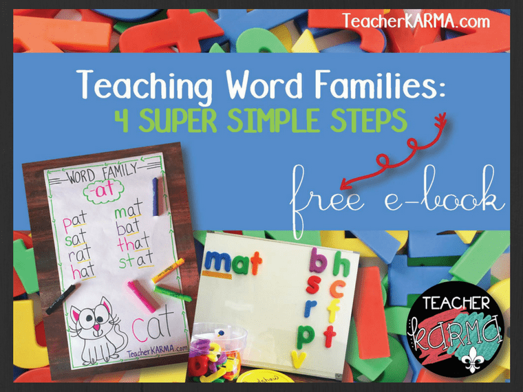 steps for teaching word families teacherkarma.com