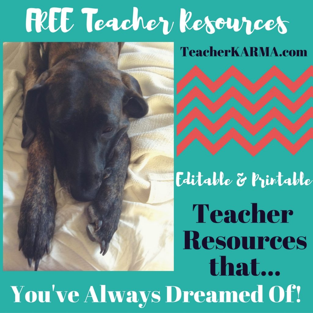 Teacher Resource Links FREEBIE TeacherKarma.com