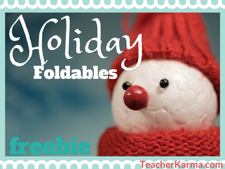 Christmas foldables