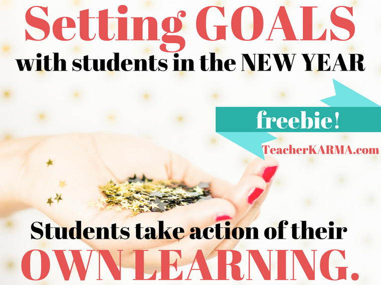 FREE System for Setting Goals with Students - Perfect for Test Prep Time