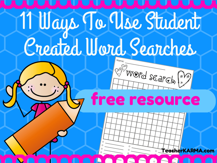 FREE Word Search Templates for the Classroom TeacherKarma.com