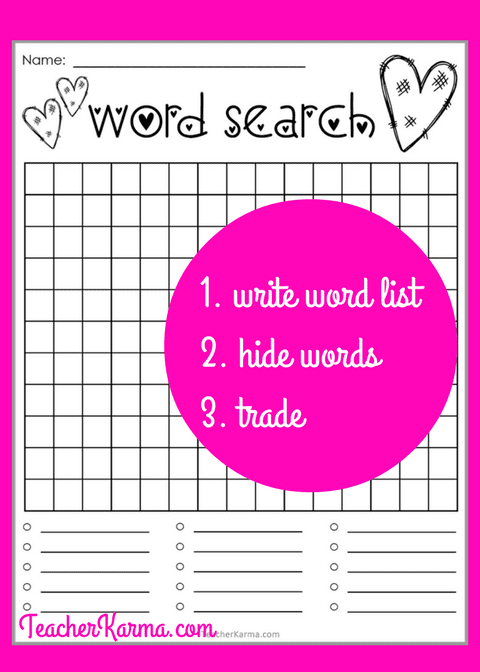Student Created Word Search Activities * Perfect for Spelling * TeacherKarma.com