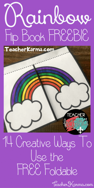 rainbow flip book freebie 14 ways to use it teacher karma