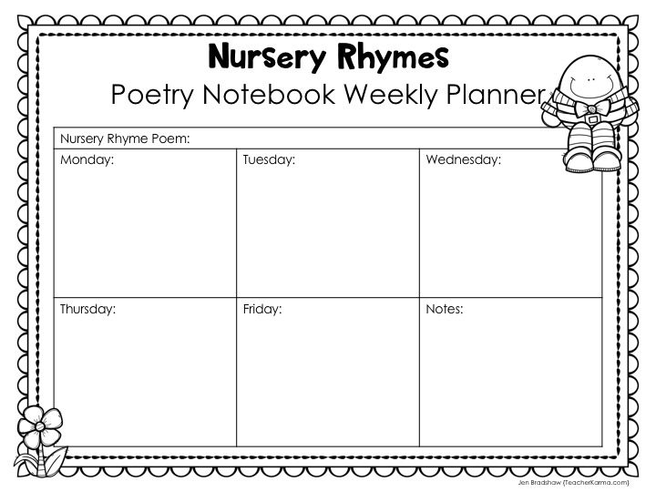 FREE Interactive Poetry Notebook is perfect for teaching phonics, sight words, and comprehension. TeacherKarma.com