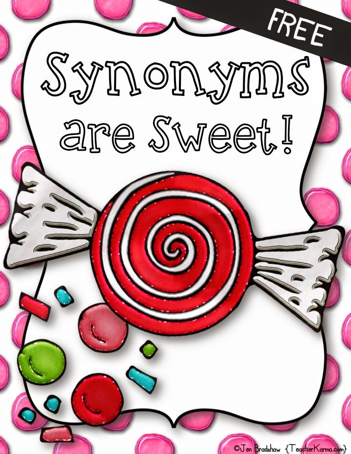 synonyms sweet vocabulary printable synonym antonym word antonyms fun grade activities worksheet resources freebie teachers worksheets teaching teacherkarma kindergarten speech