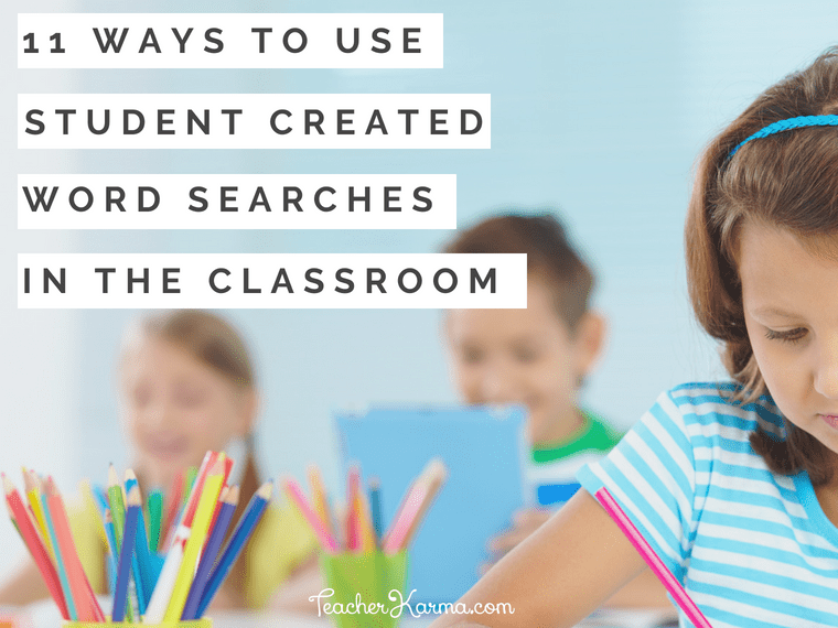 how to use word searches in the classroom #wordsearch #wordsearches #teacherkarma #teacherspayteachers