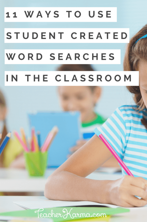 how to use word searches in the classroom #wordsearch #wordsearches #teacherspayteachers #tpt #teacherkarma